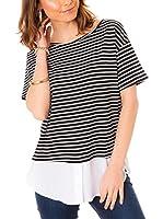 Les Gamines de Paris Camiseta Manga Corta Meredith (Negro / Blanco)