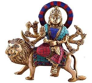 Amazon.com: Durga Sitting on Tiger- Rare Hindu Goddess Maa Kali