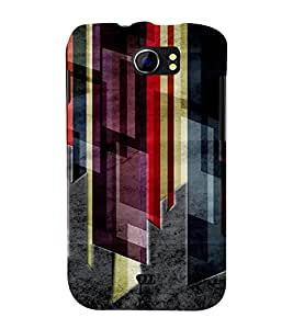 PrintVisa Modern Art Dark Pattern 3D Hard Polycarbonate Designer Back Case Cover for Micromax Canvas 2 A110 A110Q