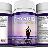 Thyroid Support Supplement • Natural Thyroid Complex Packed w/ Essential Vitamins & Herbs to Support a Healthy Metabolism, Energy & Weight Loss • Avoid Hypothyroid Symptoms • Vegetarian & Gluten-Free
