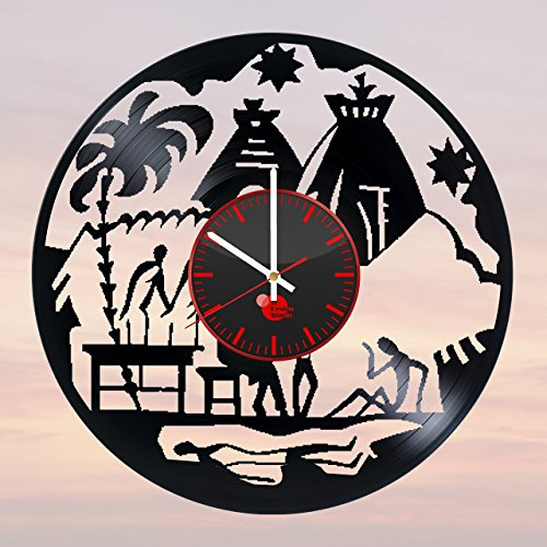 Africa-Travel-HANDMADE-Vinyl-Record-Wall-Clock-Get-unique-home-room-wall-decor-Gift-ideas-for-women-girls-and-boys-Africa-Wild-Unique-Art-Design-Leave-us-a-feedback-and-win-your-custom-clock