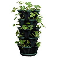 Stacking Four Clover Planter - Hanging Colored Pot - 5 Stackable Layers