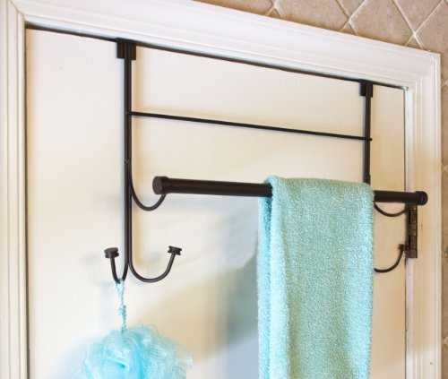 bathsense over the door towel rack with 4 hooks oil rubbed bronze home garden household. Black Bedroom Furniture Sets. Home Design Ideas