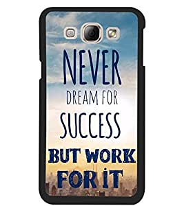 ColourCraft Quote Design Back Case Cover for SAMSUNG GALAXY A8