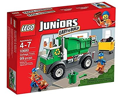 Lego Juniors - 10680 - Jeu De Construction - Le Camion Poubelle