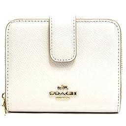 Coach Crossgrain Leather Medium Zip Around Wallet 52692 Chalk
