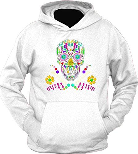 Day of The Dead Skull Flower Glasses Hoodie Sport Grey XL HDTP9879468