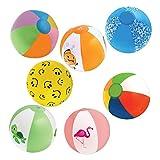 "Kangaroos 6"" Beach Balls, (25-Pack); Summer Birthday Party Favors"