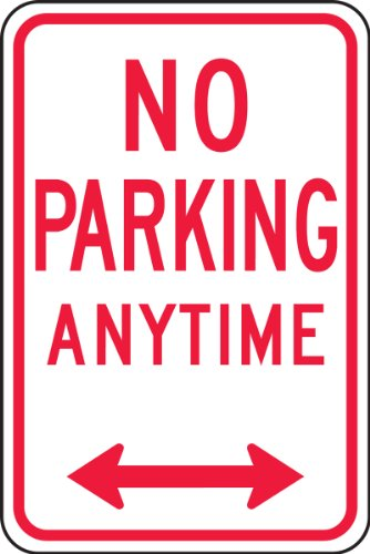 Accuform Signs FRP717RA Engineer Grade Reflective Aluminum Parking Restriction Sign, Legend