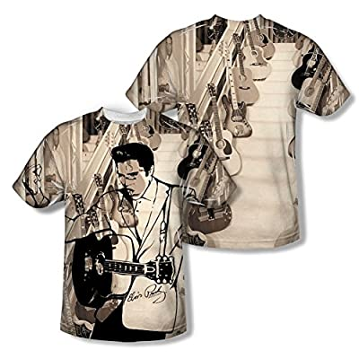 Elvis Presley The Guitarman All Over Print Front / Back T-Shirt