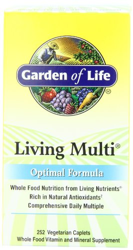 Buy Garden of Life Living Multi Optimal Formula, Caplets, 252-Count Bottle