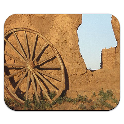 western-ruota-carro-fort-union-south-west-nuovo-messico-mouse-pad-tappetino-per-mouse