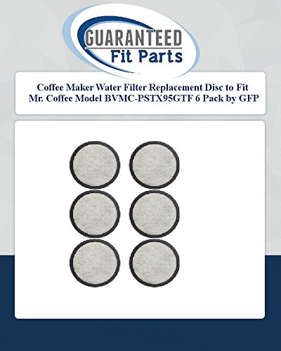 Coffee Maker Water Filter Replacement Disc To Fit Mr. Coffee Model Bvmc-Pstx95Gtf 6 Pack By Gfp