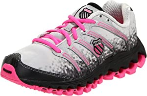 K-Swiss Women's Tubes Run 100 Running Shoe,Grey/Black/Neon Pink,11 M US