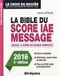 La bible du score IAE Message : Admis...