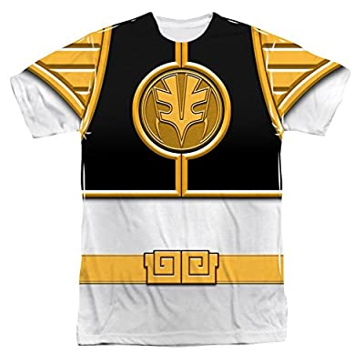 Mighty Morphin Power Rangers White Ranger Costume - All Over Front T-Shirt