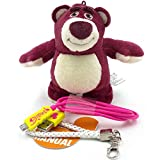 Disney 5200mah Portable Charger Power Bank External Battery Rechargeable Power Supplies Plush Cotton Doll for iPhone4/4S/5/5C/5S/6/6+, SamsungS4/S5/Note2, HTC, Nokia, PDA and Any Other Digital Device.- Lotso with Strawberry Smell