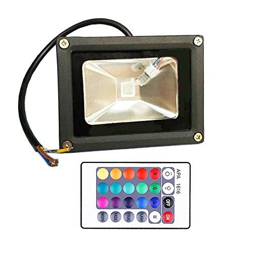 GLW-10W-RGB-Fluter-mit-FernbedienungAuenleuchten-Wasserdicht-IP65-Farbwechsel-LED-FlutlichtInsgesamt-16-Farben-4-ModiMemory-Funktion-multi-Farbe-LED-StrahlerOhne-Stecker
