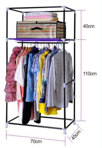 3f23ff12c Buy Evana 2.3 Feet Creative Pink Cabinet,Easy Installation Folding Wardrobe  Cupboard Almirah Foldable Storage Rack Collapsible Cloths Organizer on  Amazon ...