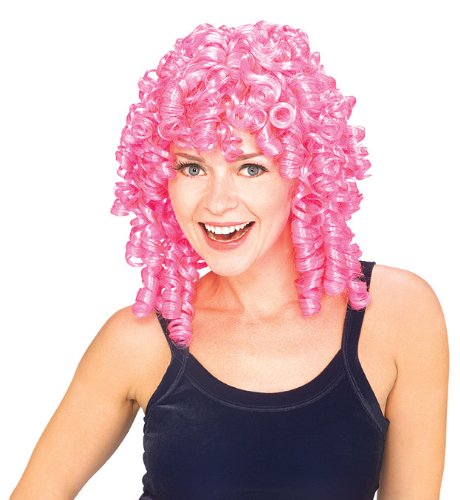 Rubie's Costume Curly Top Wig, Pink, One Size