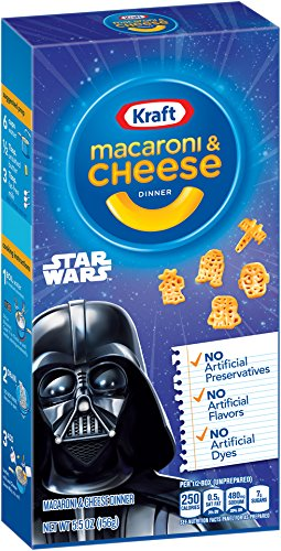 Kraft Blue Box Mac and Cheese Dinner Star Wars Shapes, 5.5 Ounce (Pack of 12) (Box Mac And Cheese compare prices)