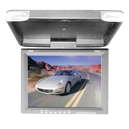 Pyle 15.1-Inch Hi-Res Flip Down Roof Mount Lcd Monitor And Ir Transmitter front-407960