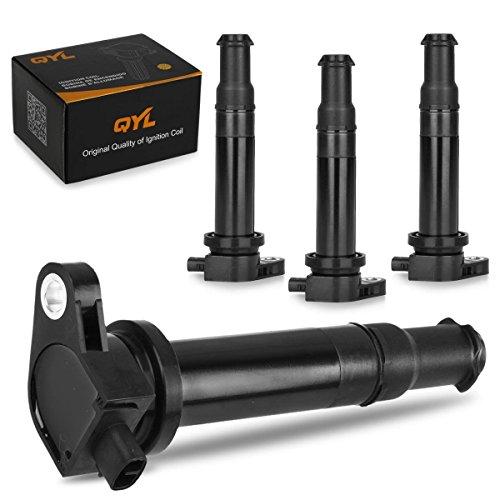 QYL Set of 4 Ignition coil Pack for Kia Dodge Hyundai Accent Rio Rio5 Attitude 1.6L I4 UF499 27301-26640 C1543 (Hyundai Accent Ignition Coil compare prices)