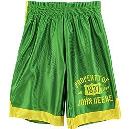 John Deere Boys Green Athletic Dazzle Shorts (S(4))