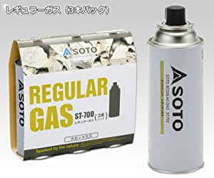ソト(SOTO) レギュラーガス ガスボンベ カセットガス(3本パック) ST-7001