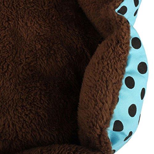 Malloom® Morbido Cotone Vello Staccabile Animale domestico Cane Cucciolo Gatto Letto Caldo Casa Peluche Accogliente Nido Gabbia Mat Tappetino per Cani Accessori Blu