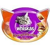 Whiskas Knusper-Taschen Katzensnacks Rind, 8 Packungen (8 x 60 g)