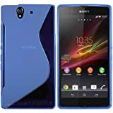 "mumbi TPU Skin Case Sony Xperia Z Silikon Tasche H�lle - Silicon Protector Schutzh�lle Welle transparent blauvon ""mumbi"""
