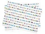 Kidsランチョンマット 2枚セット スタンダードタイプ 世界の乗り物大図鑑(ホワイト) 日本製 N3651300