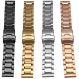 1pcs 20mm stainless steel double press double insurance deduction watch belt thickness: 3.5mm. Length: 185mm