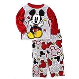 Mickey Mouse Boys Red Fleece Pajamas