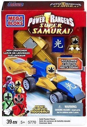 Mega Bloks Power Rangers Samurai Gold Pocket Racer (Power Ranger Legos For Boys compare prices)
