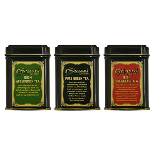 Connemara Kitchen 3 Set Of Mini Tea Tins 0