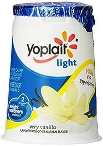 Yoplait, Light Fat Free Yogurt, Very Vanilla, 6 oz: Amazon ...