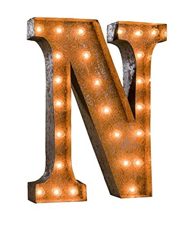 24 Vintage-Inspired Letter N Marquee Light