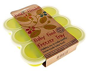 Tutti Bimbi Baby Food Freezer Tray - Silicone Storage Container with Lid for Healthy Homemade Baby Food - Bacteria resistant, BPA and Phthalate Free - 9 Easy-Out Portions - Practical and Easy to Prepare and Store Healthy Natural Food - FREE Recipe E-book