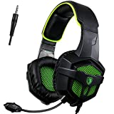 [SADES 2016 Multi-PlatformNew Xbox one PS4 Gaming Headset ], SA-807 Green Gaming Headsets Headphones For New Xbox one/ PS4/PC /Laptop /Mac /iPad /iPod (Black&Blue)