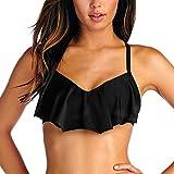 Vitamin A Bikini Top, Black, Large