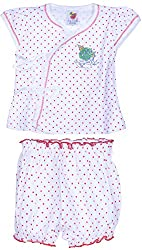 Amy Baby Girls' Dress (K90_1_3-6 Months, Red, 3-6 Months) - Special Offer with Free Delivery - 100% Cotton Exclusive Kidswear