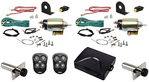 Megatronix - CP500SDK2P - Two Door Remote Control Heavy Duty Shaved Door Handle Kit With Poppers 50Lbs Pull (Electric Door Poppers compare prices)