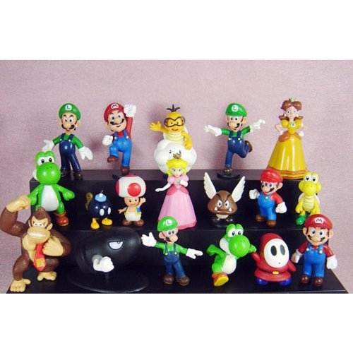"""Win8Fong Super Mario Bros 1~3"""" Lot 18 pcs Action Figure Toy Doll Collections"""