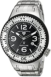 Swiss Legend Men's 21819P-11-SB Neptune Force Analog Display Swiss Quartz Silver Watch