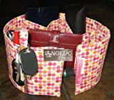 Purseket Medium Purse Organizer Insert Pink Multi-dot