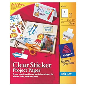 full sheet sticker paper