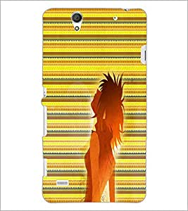 PrintDhaba Girl Impression D-2997 Back Case Cover for SONY XPERIA C4 (Multi-Coloured)