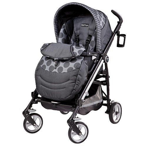 Peg Perego Switch Four Stroller Pois Grey front-916409